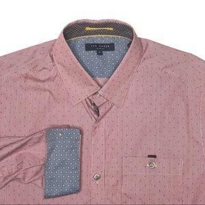 Ted Baker London Dot Pattern Button Up Shirt